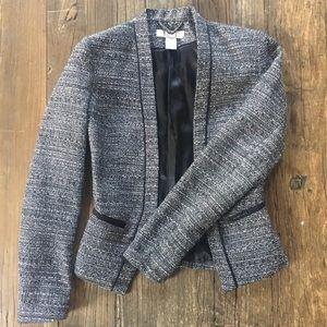 H&M tweed black and white blazer